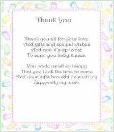 thank you notes baby shower baby shower thank you