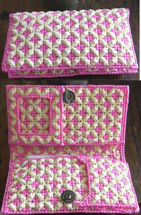 como hacer manualidades con canvas billetera de dama confeccionada en malla pl 225 stica y rafia