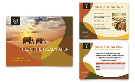 powerpoint template flyer travel tourism presentations templates designs