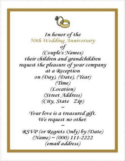 Free Wedding Anniversary Invitation Template Anniversary Invitation Template
