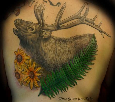 elk tattoos elk antler
