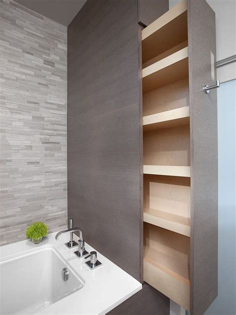Pull Out Bathroom Storage Pin By Emily Martin On Bathrooms Pinterest