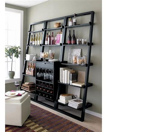 Sloane Leaning Wine Bar Bookcase Set Wine Pinterest