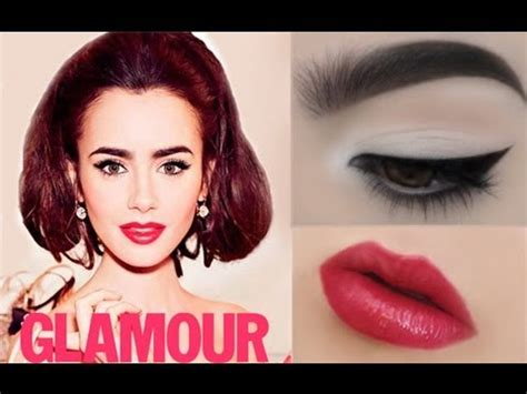 tutorial makeup natural glamour lily collins glamour magazine makeup tutorial