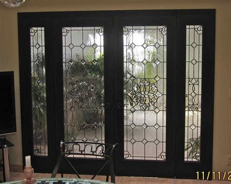 Doors With Glass Inserts Bevel Clusters Entry Ii Glass Door Inserts Sans Soucie