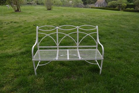 wrought iron garden benches sale garden bench with wrought iron elements for sale at 1stdibs