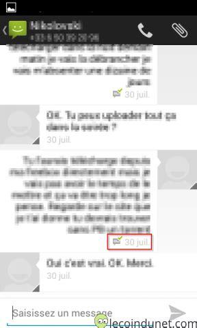 Activer les accusés de réception de SMS sur Android