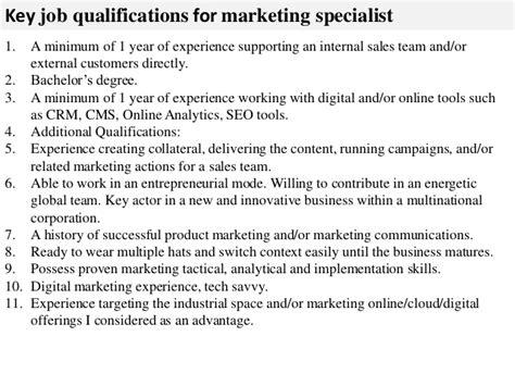Marketing Specialist by Marketing Specialist Description