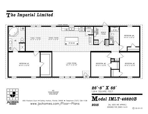 imlt 46412b mobile home floor plan ocala custom homes imlt 46820b mobile home floor plan ocala custom homes