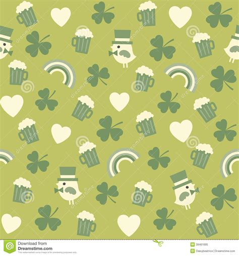 cute green pattern wallpaper seamless green background pattern for st patricks stock