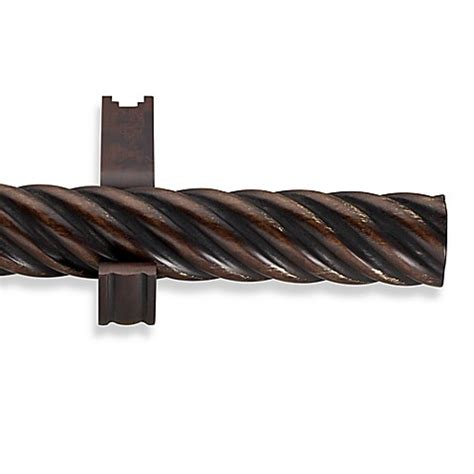 cambria wood curtain rods buy cambria 174 estate wood 36 inch single twisted curtain