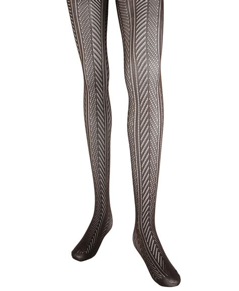 herringbone pattern tights lyst forever 21 210 denier herringbone tights in brown