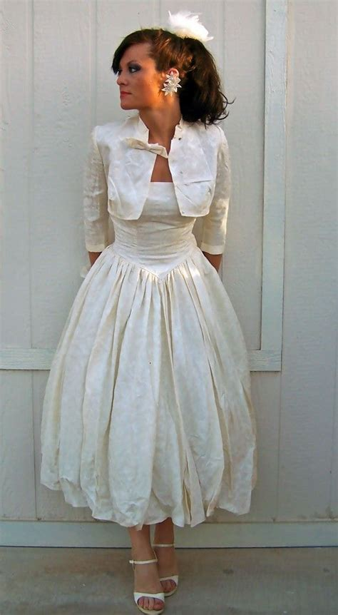 vintage wedding dresses cardiff reserved for i only for you vintage 1950s tea length swing ivory silk
