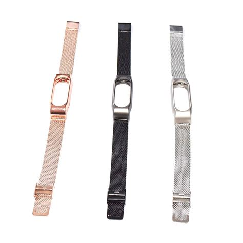 Watchband Stainless Steel Xiaomi Mi Band 2 watchband milanese stainless steel xiaomi mi band 2 oem golden jakartanotebook