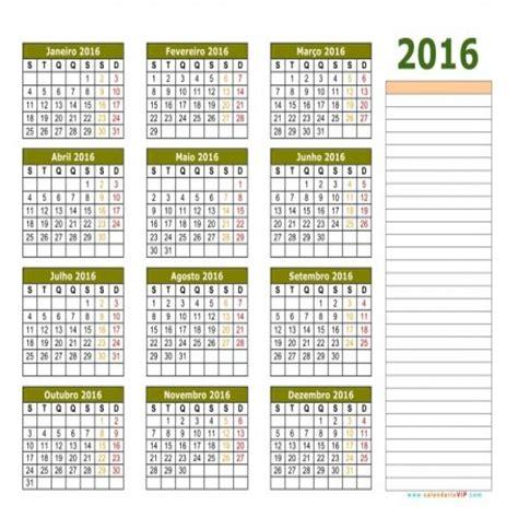 Calendario Para Imprimir Calend 225 2016 Para Imprimir Mundodastribos Todas As