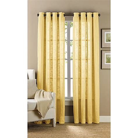 yellow grommet curtains buy b smith origami grommet 63 inch window curtain panel