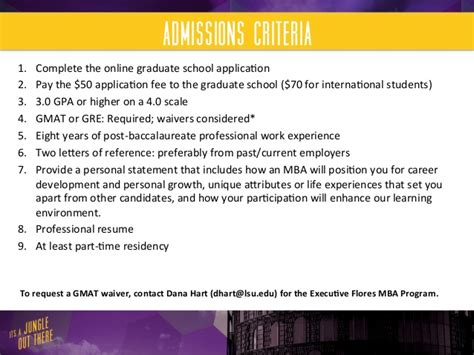 Lsu Executive Mba by Lsu Flores Mba Executive Mba Program