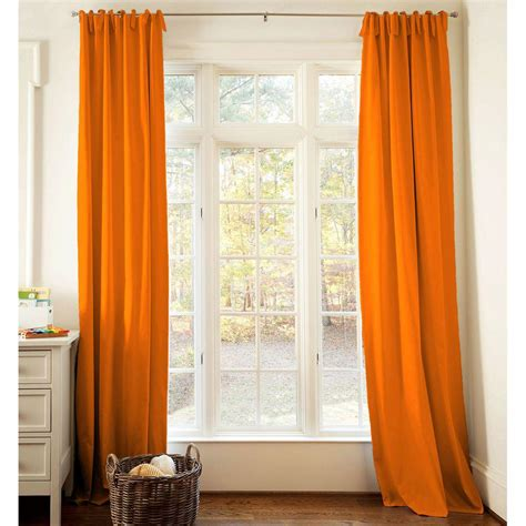 curtain drape solid orange drape panel carousel designs