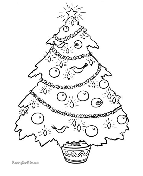 free printable christmas tree ornaments coloring pages christmas coloring pictures a beautiful tree