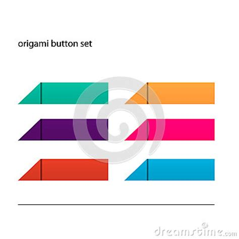 Origami Set For - origami button set royalty free stock images image 28468219