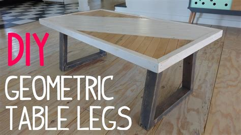 cheap diy table legs diy modern geometric table legs