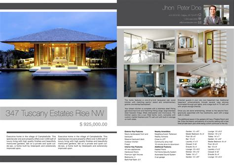 Real Estate Feature Sheet Template real estate photographer calgary feature sheets