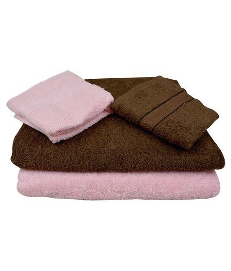 Fancy Bathroom Towels by The Fancy Mart Set Of 4 Cotton Bath Towel Multi Color