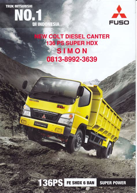 mitsubishi colt diesel canter super hdx truck colt