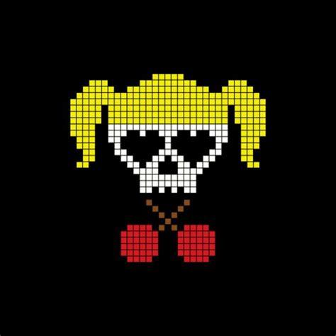 Casquette avec logo Lollipop Chainsaw pixel art noire Casquette avec logo Lollipop Chainsaw