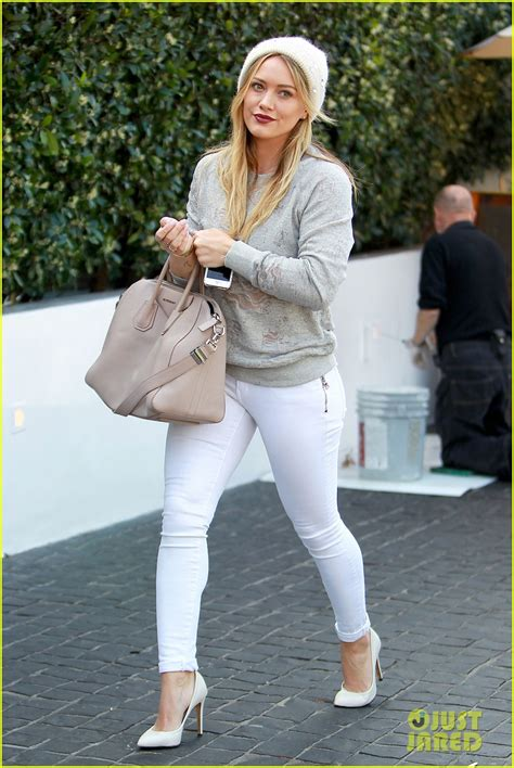 Celana Psd Gray hilary duff beverly shopper with luca photo