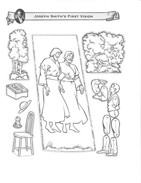 coloring pages joseph smith s first vision joseph smith first vision at the hill cumorah coloring