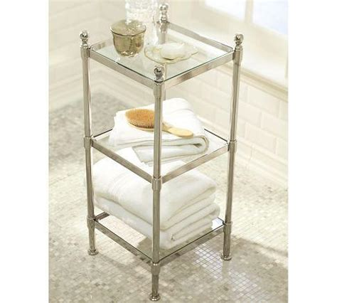 pottery barn bathroom shelves metal etagere pottery barn