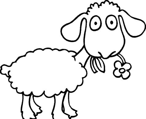the sheep are eating flowers coloring pages sheeps
