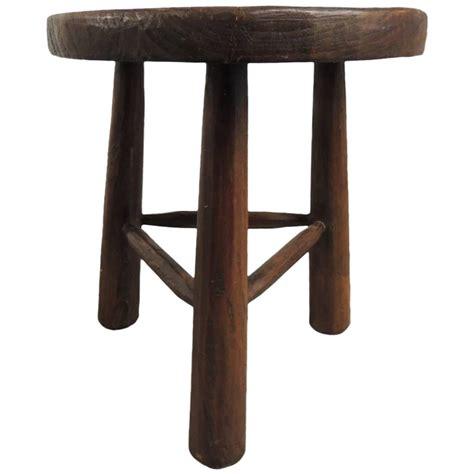 3 Leg Stool by Vintage Wood Tripod Three Legged Stool At 1stdibs
