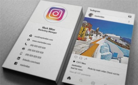 instagram card template 15 turn your instagram into a business card by s hammad