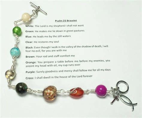 christian bead bracelet psalm 23 bracelet beaded christian bracelet beaded bracelet