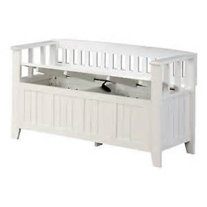 white storage bench with seat storage bench seat 2 person white wood outdoor indoor