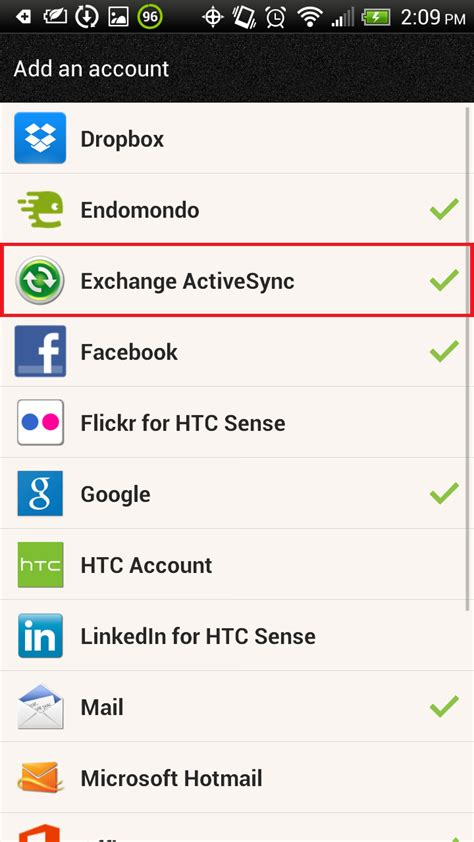 exchange email on android manually configure android devices for email hosted on exchange 2010