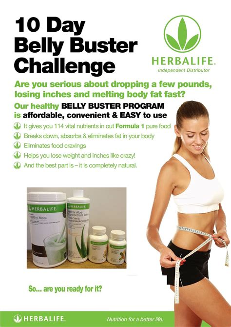 10 Day Tummy Detox by The 10 Day Herbalife Belly Buster Challenge All Things