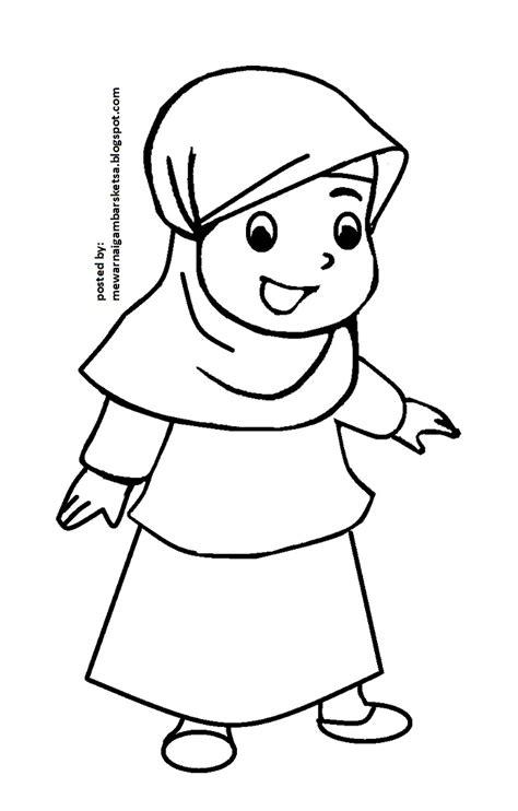 mewarnai gambar mewarnai gambar mode baju muslimah