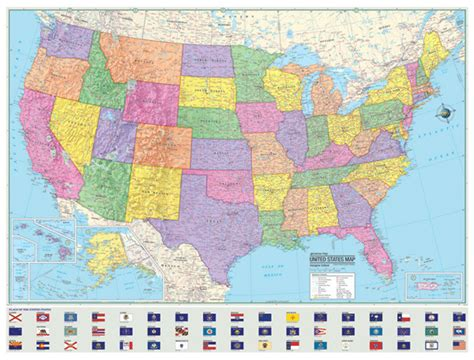 picture of map of usa 36x48 hammond united states us usa large wall map mural ebay