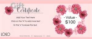 nail salon gift certificate template gift certificate template with logo