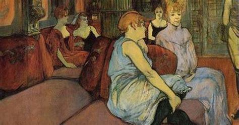 ba toulouse lautrec espagnol henri de toulouse lautrec au salon de la rue des moulins ca 1894 carboncino e olio su tela