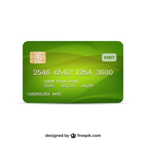 Visa Credit Card Template Vector Credit Card Vector Vector Free