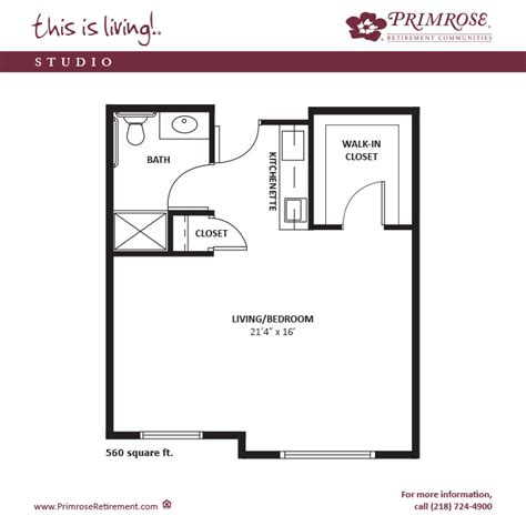 560 sq ft apartment sizes and floor plans for duluth mn primrose