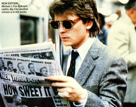michael j fox bright lights big city bright lights big city movie stills pinterest