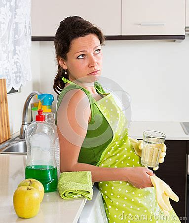 sad cleaning furniture stock photo image 54988987