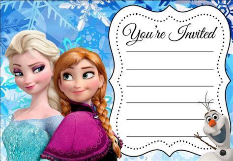 frozen  printable invitation templates invitations