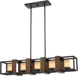 Kitchen Island Light Fixtures Cal Fx 3588 5 Island Modern Wood Bronze Halogen