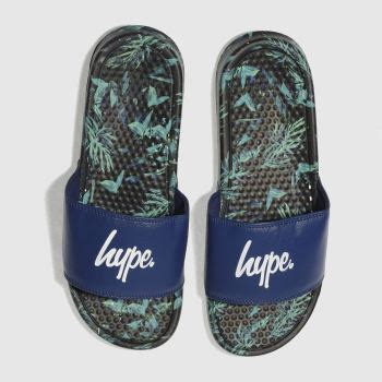 Hype Sliders In Navy s shoes s boots sandals loafers schuh